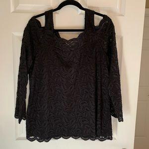 Chico's Black Lace Shirt